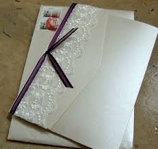 Invitation Pocket Custom Wedding Invitation Pocket Folder With Lace U2013 Papercake Designs