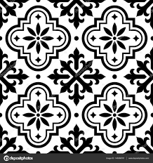 Moroccan Tile by Spanish Tile Pattern Moroccan Tiles Design Seamless Black And