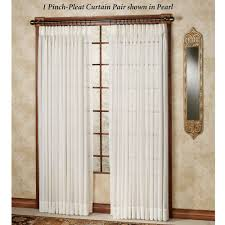should drapes touch the floor splendor semi sheer pinch pleat drapery curtain pair
