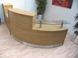 Rounded Reception Desk by Office Table Curved Salon Reception Desk Plans For Curved