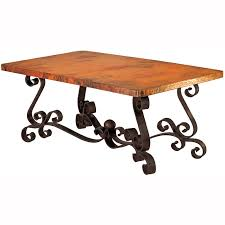 hammered copper dining table tuscan copper top dining table