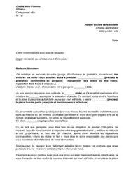 lettre de demande de fourniture de bureau exemple gratuit de lettre demande remplacement une pièce