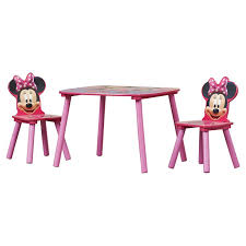 minnie mouse table set delta children minnie mouse kids 3 piece table and chair set