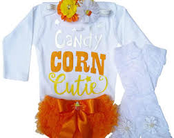 Candy Corn Baby Halloween Costume Candy Corn Onesie Etsy
