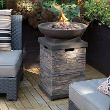 Outdoor Gas Fire Pit Patio Deck Fire Pit Bowl Table Propane Backyard Outdoor Furniture