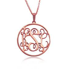 Personalized Monogram Necklace Best 25 Gold Monogram Necklace Ideas On Pinterest Monogram