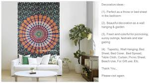 Bedroom Tapestry Indian Wall Bedroom by India Handmade Wall Hanging Popular Mandala Tapestries Youtube