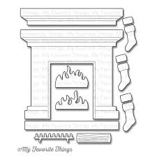 my favorite things die namics christmas dies fireplace