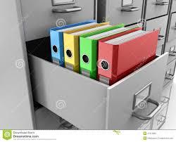 Grey Filing Cabinet Binder Folders In Filing Cabinet Stock Illustration Image 31972866