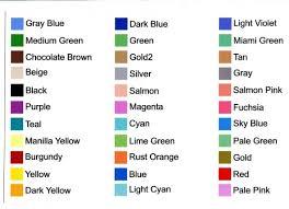 list of color color list picture 4 of 13 basic color list your big dilemma
