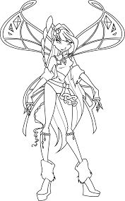 Musa Lovix Coloring Page By Icantunloveyou On Deviantart Winx Club Musa Coloring Pages