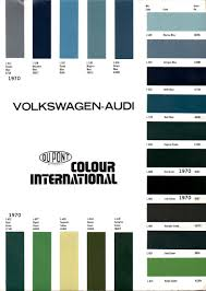 1970 volkswagen and audi paint charts and color codes