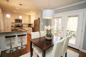 bi level kitchen designs split level opened up kitchen pendant over table and island are