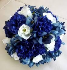 Wedding Flowers Blue And White Blue White Aisle Markers Altar Arch Arrangements Bouquet