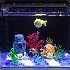 squidward easter island mask resin crafts aquarium decoration fish