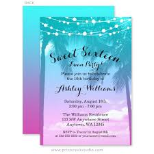sweet 16 birthday party invitations print creek studio inc