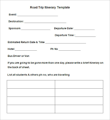 blank itinerary template 11 free word pdf documents download