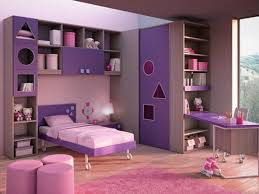 Purple Bookcase Bedroom Ideas For Girls Wood Bookcase Round Benches Pink Rug