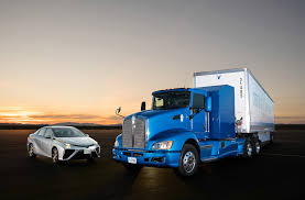 concept semi truck a ride around the track in toyota u0027s hydrogen fuel cell powered