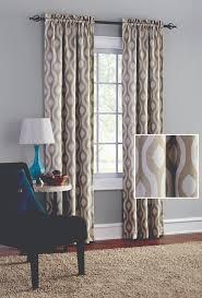 mainstays blackout print woven window curtains set of 2 walmart com