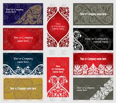 business cards with ornaments vector clipart image 64642 rfclipart