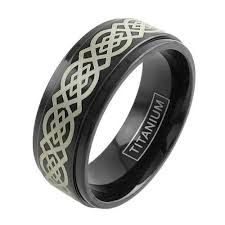 can titanium rings be engraved black titanium ring w gold celtic knot engraving wholesale