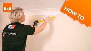 How To Fit Cornice To Ceiling How To Put Up Polystyrene Coving On A Ceiling Lader Blog