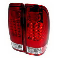 2000 F150 Tail Lights 06 Ford F150 F250 F350 Red Clear Lens Led Tail Lights