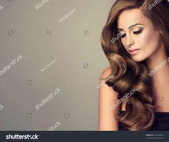 beautiful long wavy shiny hair stock photo 457582534