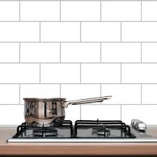 Kitchen Backsplash Decals by Amazon Com Subway Tile Wall Decal Home U0026 Kitchen