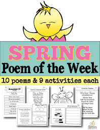 poem of the week for the whole year for kindergarten first