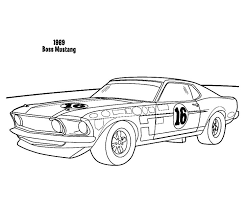 1969 boss mustang car coloring pages place color cass
