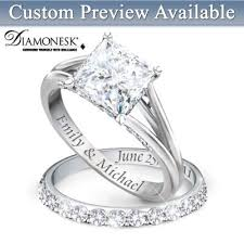 rings bridal bridal wedding rings set bradford exchange