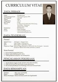 Curriculum Vitae Format Pdf Contoh Resume Yang Lengkap Resume For Your Job Application