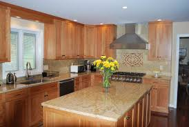 natural cherry kitchen cabinets interior design