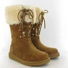 womens ugg montclair boots black ugg montclair lace sheepskin boot in chestnut