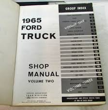 ford truck shop service manual set original pickup heavy duty f series