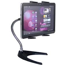 accessorybasics 10 u2033 tall tablet stand w 360 rotation and bendable