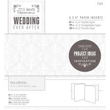 Card Inserts For Invitations Papermania Wedding Ever After Card Inserts 25 Pack Wedding