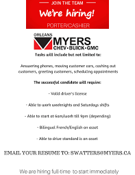 myers automotive group now hiring for jobs in ottawa