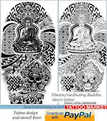buddhist tibetan tattoo template 120 tattoo market
