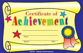 kindergarten certificates certificate of achievement 25 pk 8 1 2 x 5 1 2 tcr1937