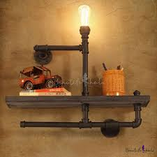 Lighting For Bookshelves by Utility Single Light Bookshelf Wall Lamp With Wood Accents
