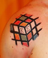 rubik cube tattoo tattoo boy
