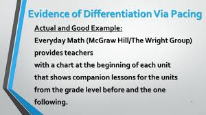 differentiation ties to otes part two big rocks of
