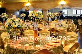 gold spandex chair covers aliexpress buy gold chair cover metallic gold and silver