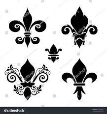 vector ink set fleurdelis beautiful elements stock vector