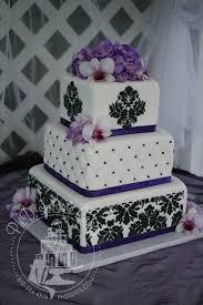 ph d serts purple u0026 black damask wedding cake tampa wedding