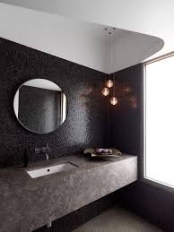 15 best collection of large round black mirrors