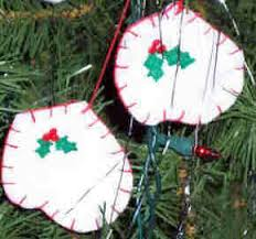 mitten ornament crafted from felt